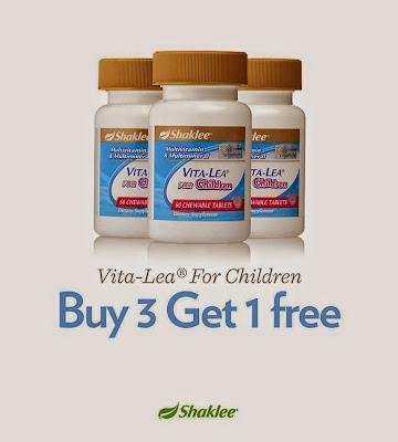 Promosi Vita-Lea for Children juga disambung semula. Beli 3 botol dan akan menerima sebotol secara PERCUMA dan sebotol Vita-Lea PERCUMA.