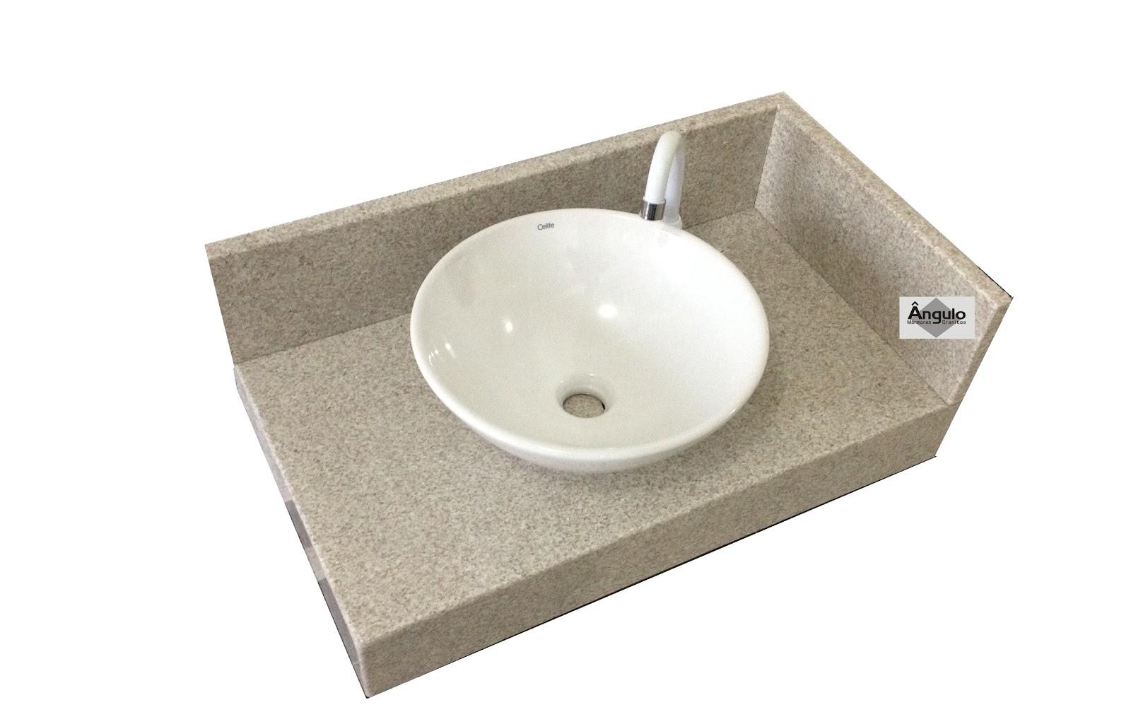Mármores e Granitos: Bancada de Banheiro Granito Branco Siena #776B54 1600x1014 Banheiro Branco Siena