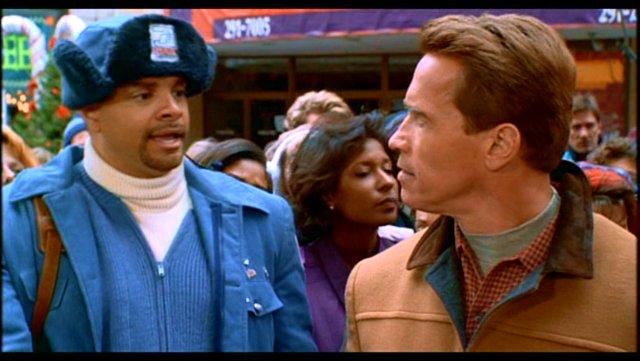 Sinbad and Arnold Schwarzenegger