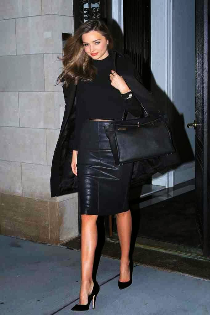 lovely in leather miranda kerr in a leather pencil