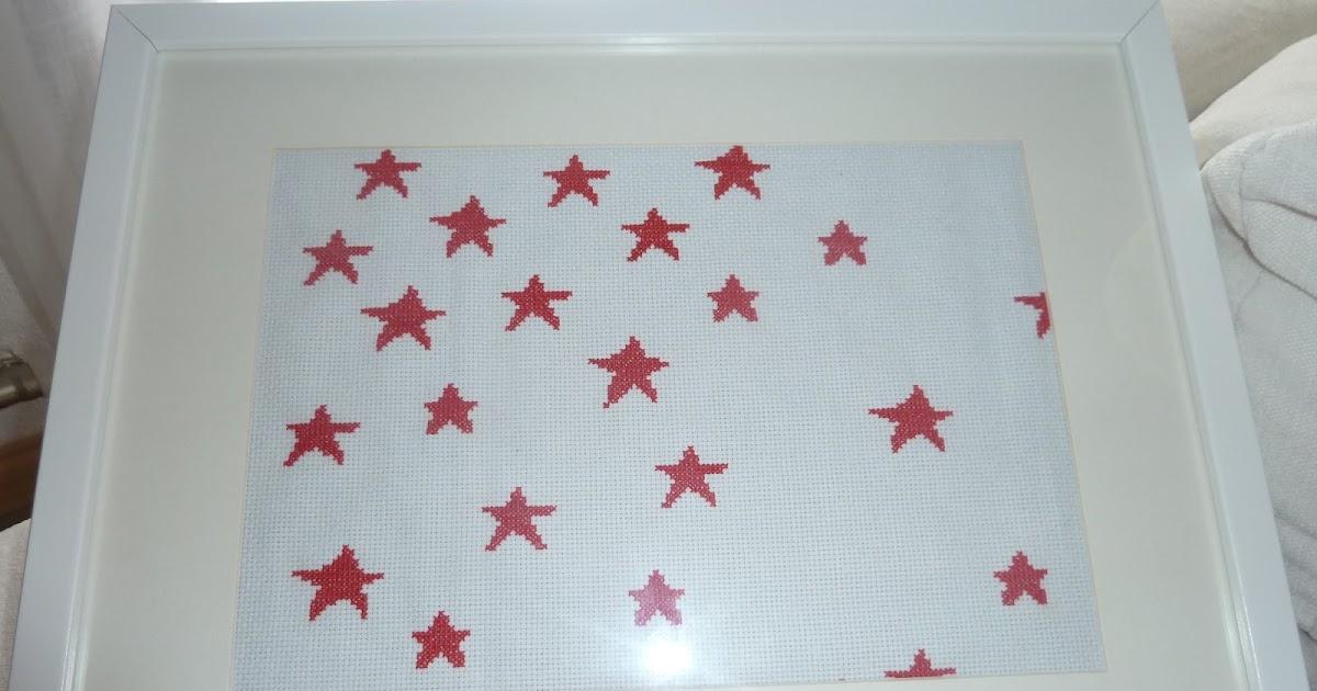 El caracol estrellas a punto de cruz - Punto de cruz bano ...