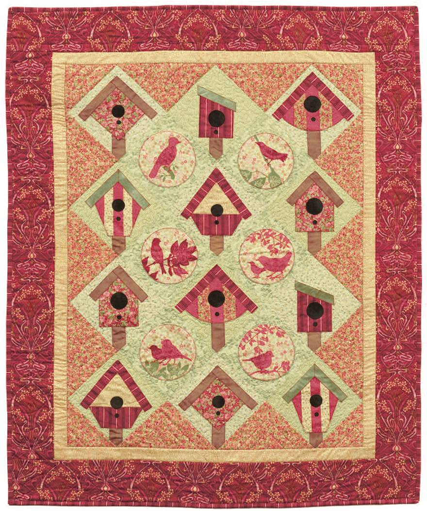 Quilt Inspiration: Free pattern day ! Bird houses