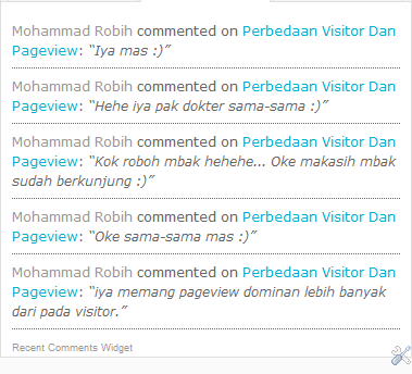 Membuat Widget Recent Comment