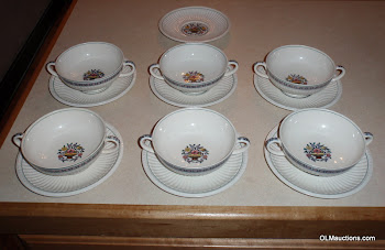 Lot of 13 2 Handled Soup Bowls With Saucers Trentham A6760