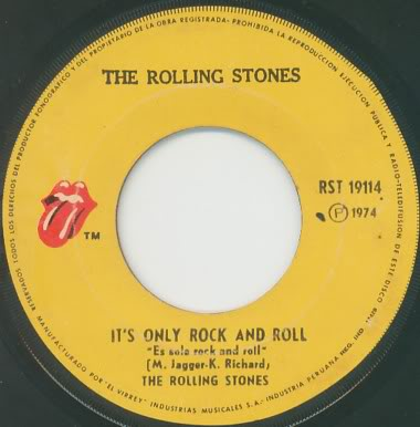 THE ROLLING STONES  quot It s only rock and roll   Through the lonely    Rolling Stones Its Only Rock And Roll