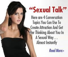 Sexy talk to a woman