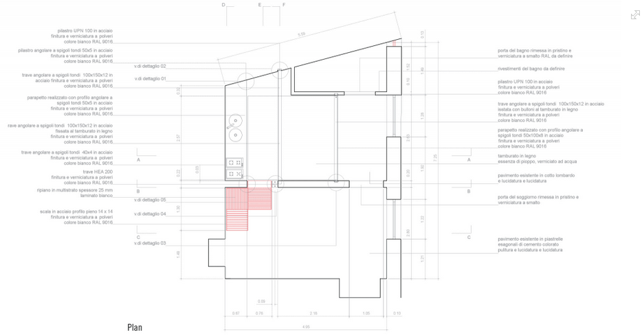 house C Architecture Plan, Milan