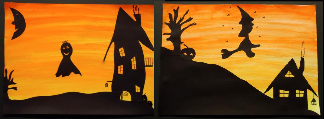 Klassenkunst es ist halloween - Halloween fensterbilder ...