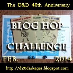 D&D 40th Anniversary Bloghop Challenge
