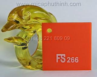 Mica màu cam FS 266