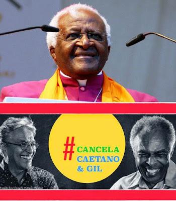 Desmond Tutu pede que Caetano e Gil cancelem show em Israel