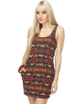 Navajo Print Tank Dress