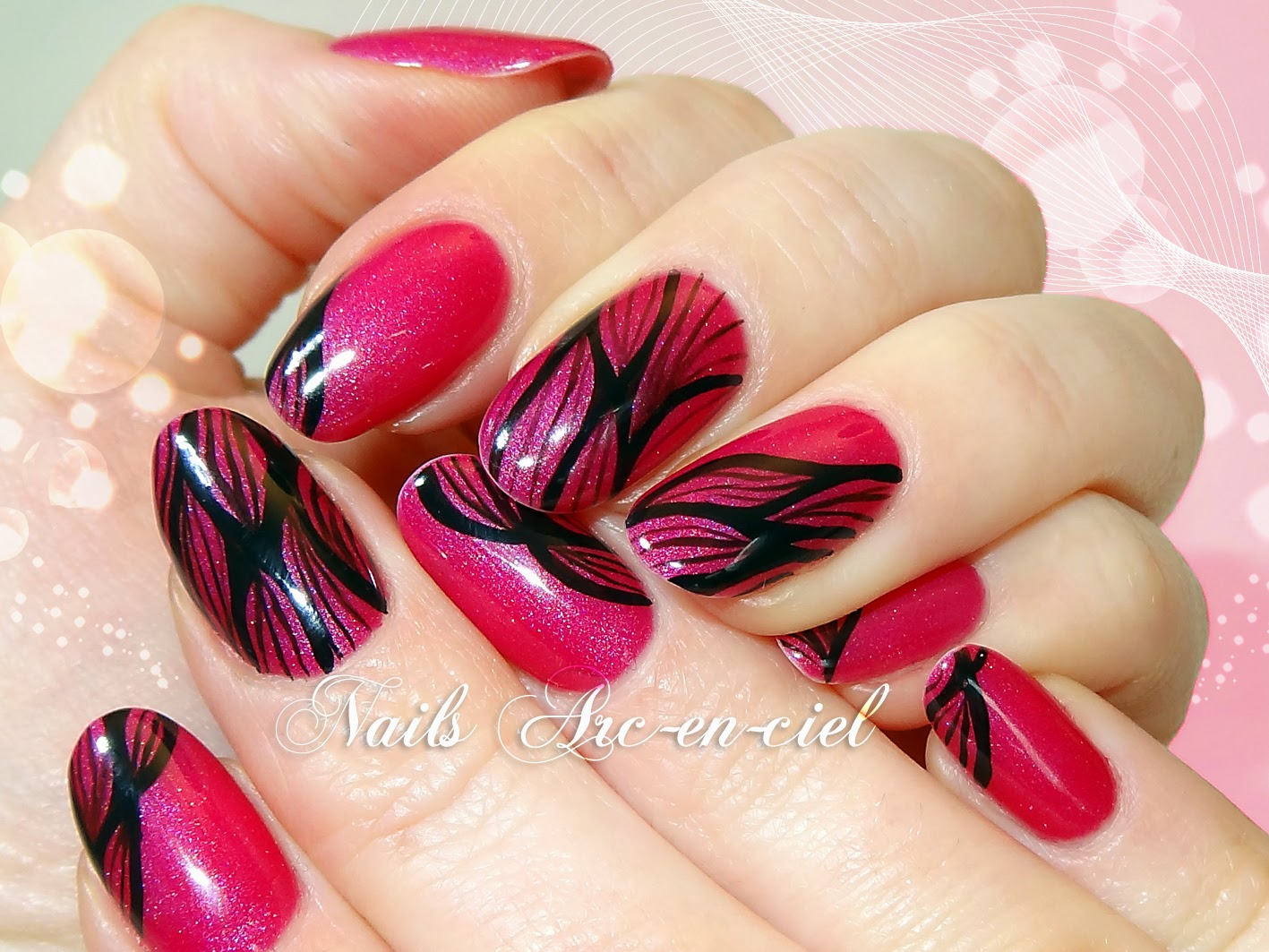 nail art abstrait Lechat Angel's Breeze vernis thermosensible