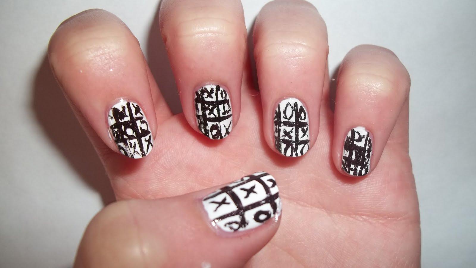 White Toe Nail Designs Tumblr Blue and White Cute Toe Nail Design ...