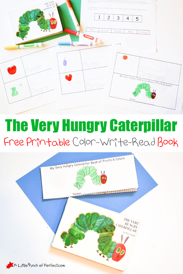 The Very Hungry Caterpillar Printable ColorWriteRead Book