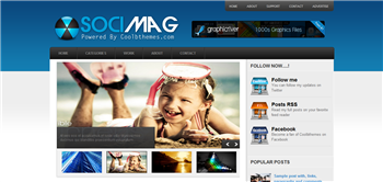 Socimag Blogger Template is coolbthemes blogger template design, its very powerfull seo friendly blogger template