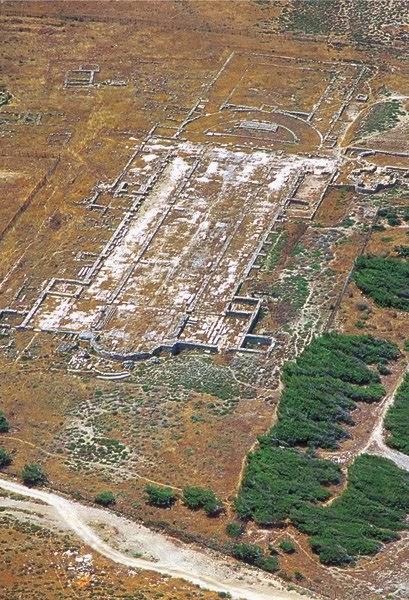 Αεροφωτογραφία της χριστιανικής βασιλικής του Λεχαίου.