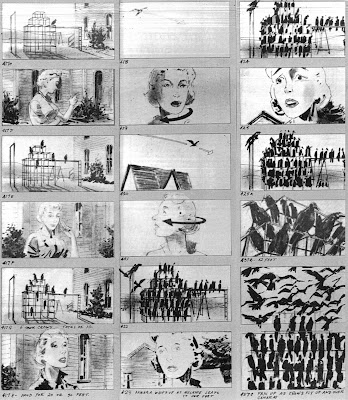 Storyboard - The Birds - Crows on the Playground