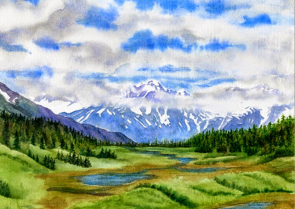 fotos-de-cuadros-paisajes-naturales-acuarela