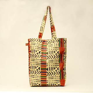 Ugo's Boutique Kente print shopper - iloveankara.blogspot.com
