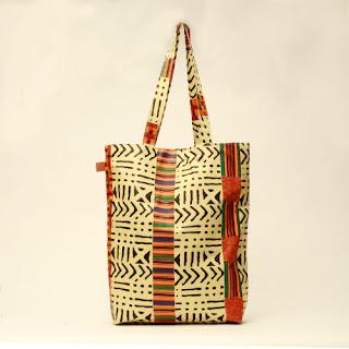 Ugo's Boutique Kente print shopper - iloveankara.blogspot.com