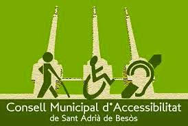 logotip del Consell Municipal d'Accessibilitat de Sant Adrià del Besos