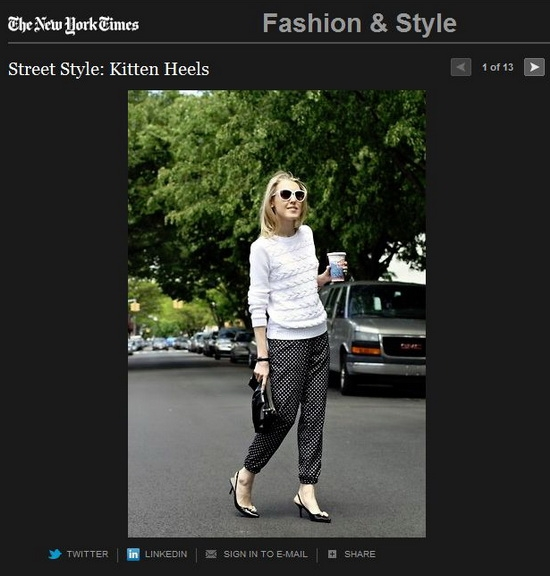 The New York Times Fashion & Style Section Kitten Heels