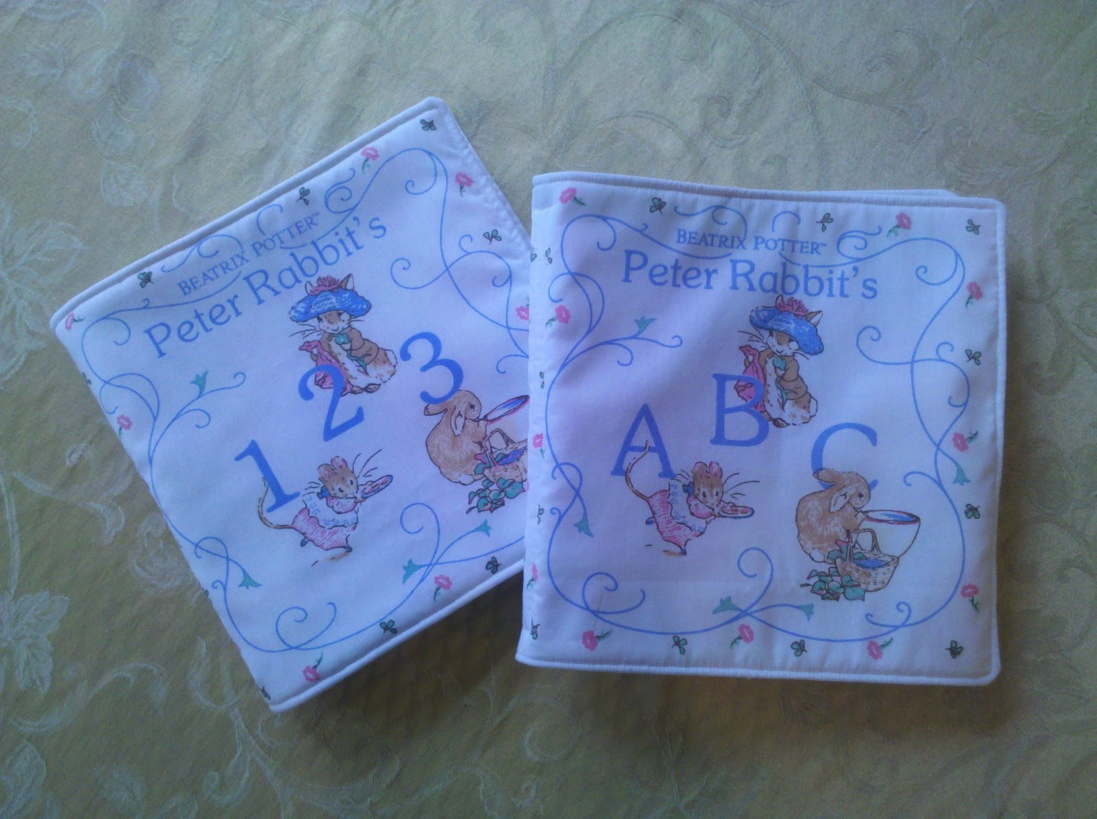 Purple Sage Originals Baby S First Cloth Book Peter Rabbit And