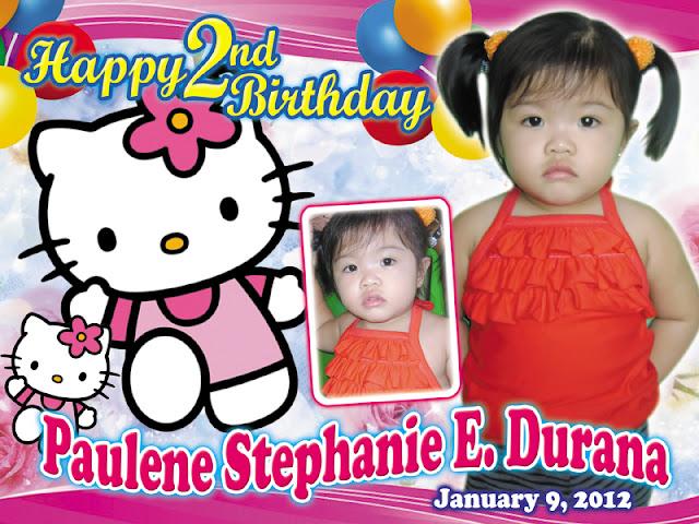 CustomizePrintShop: Hello Kitty Birthday Layout