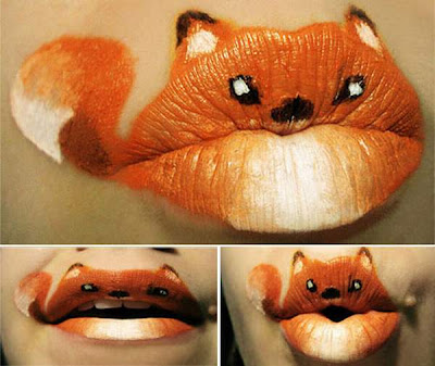 Beautiful And Creative Animal Lipstick Art  14 Images
