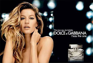 Beautiful Gisella Bundchen Dolce & Gabbana Perfume