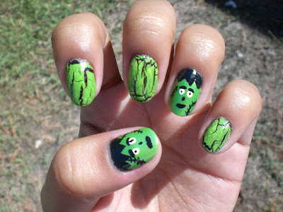 Oh Me Oh My Frankenstein Nails