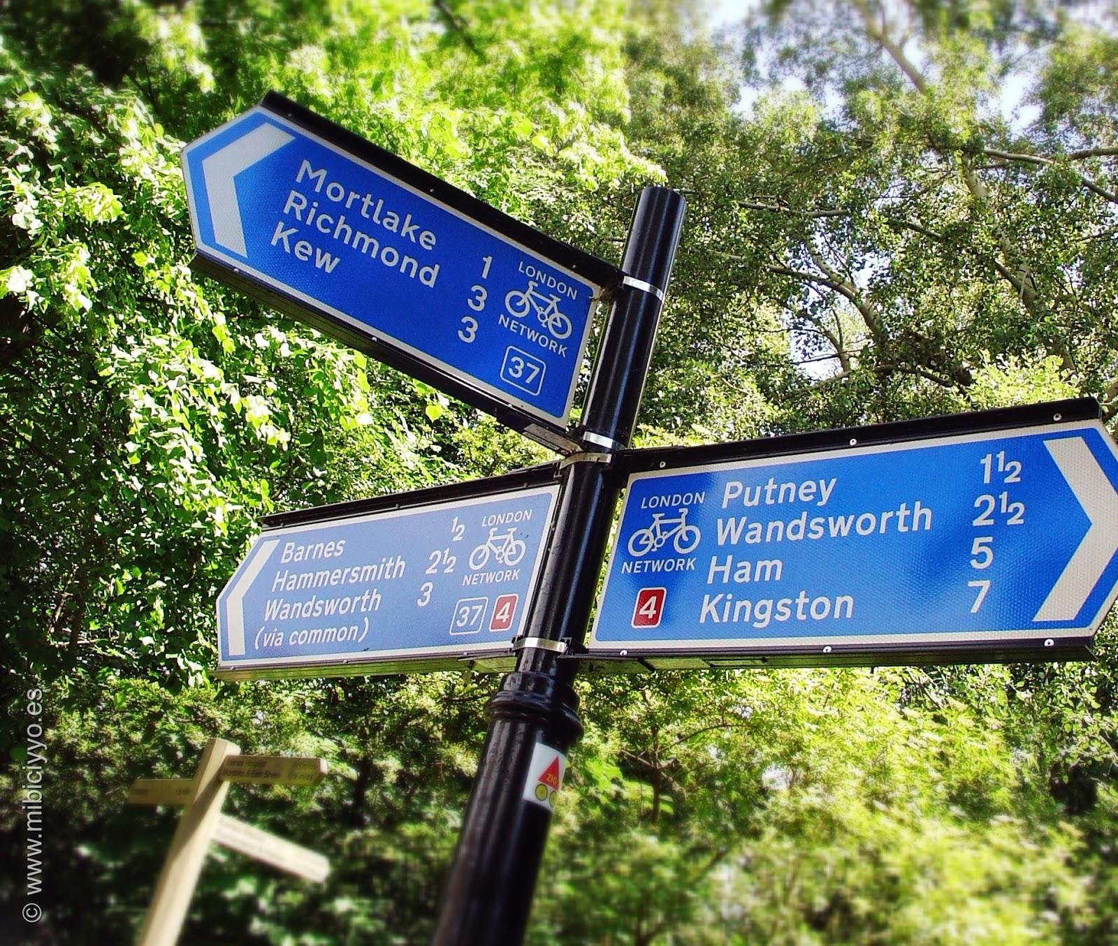 señales rutas bici
