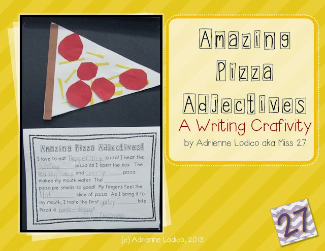 http://www.teacherspayteachers.com/Product/Amazing-Pizza-Adjectives-a-FREE-writing-craftivity-1014375