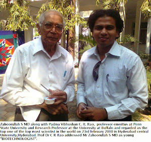 Mr Zahoorullah S MD and Prof Dr C R Rao