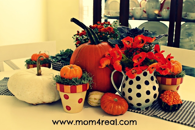 Country Living Inspired fall centerpiece