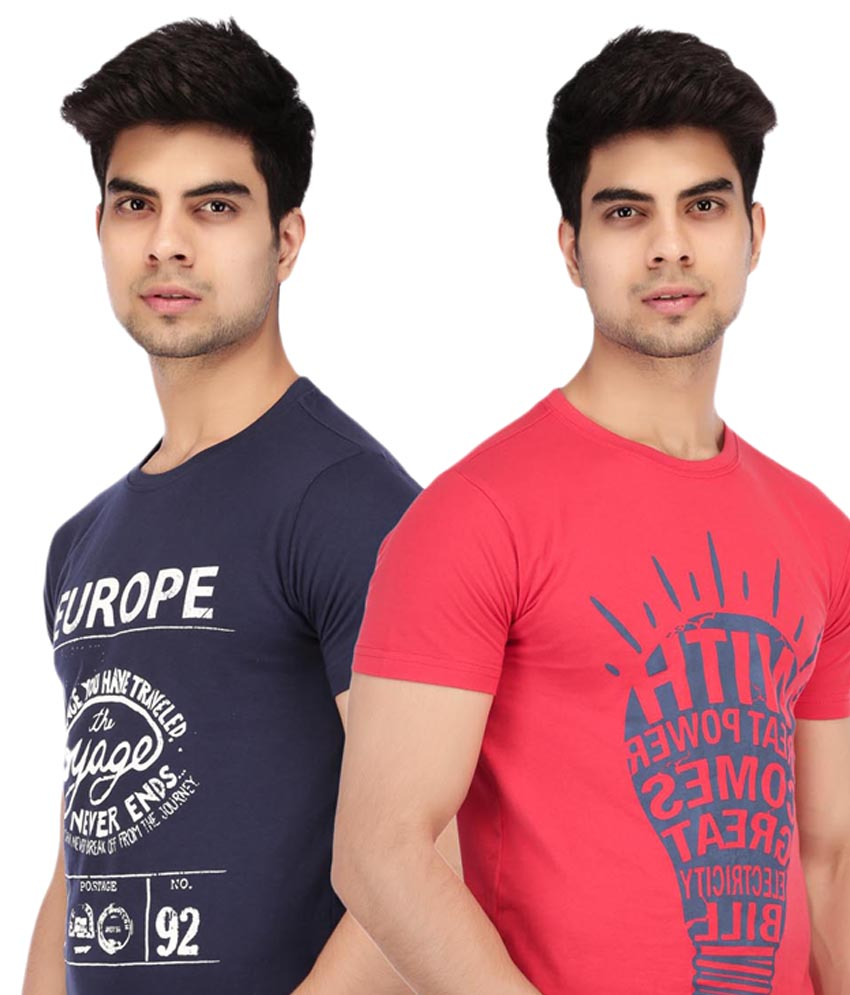 Round Neck T-Shirts online combo offer