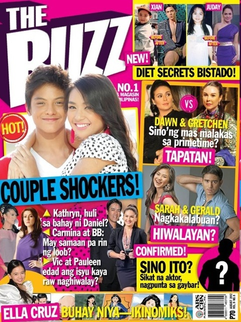Kathryn Bernardo and Daniel Padilla Cover The Buzz Magazine August 2012 issue