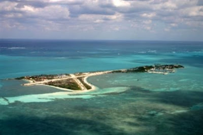 Walker's Cay National Park, Abaco Island, The Bahamas is said to be haunted by a ghostly dog that roams the beach during extreme weather