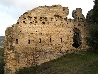 Mur de tramuntana del Castell de Fitor o d'Esparreguera