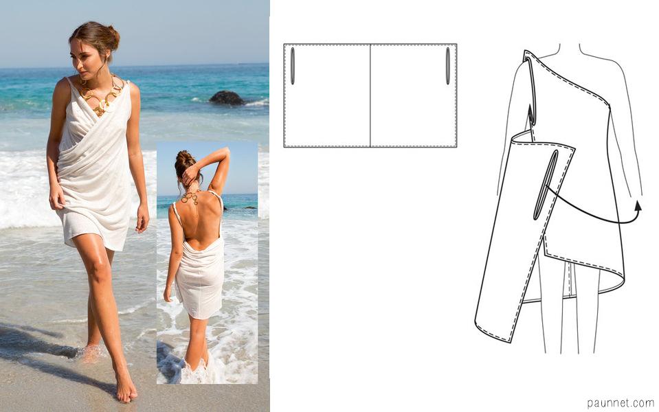 Как сшить пляжное платье своими руками для начинающих 44
