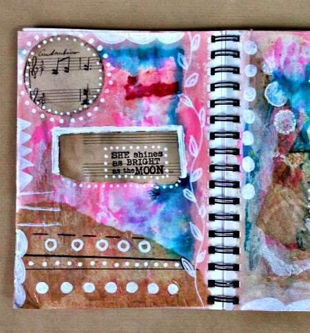 Red Lead Art Journal Page 1 by Kimberly Jones serendipityvintagestudio.blogspot.com