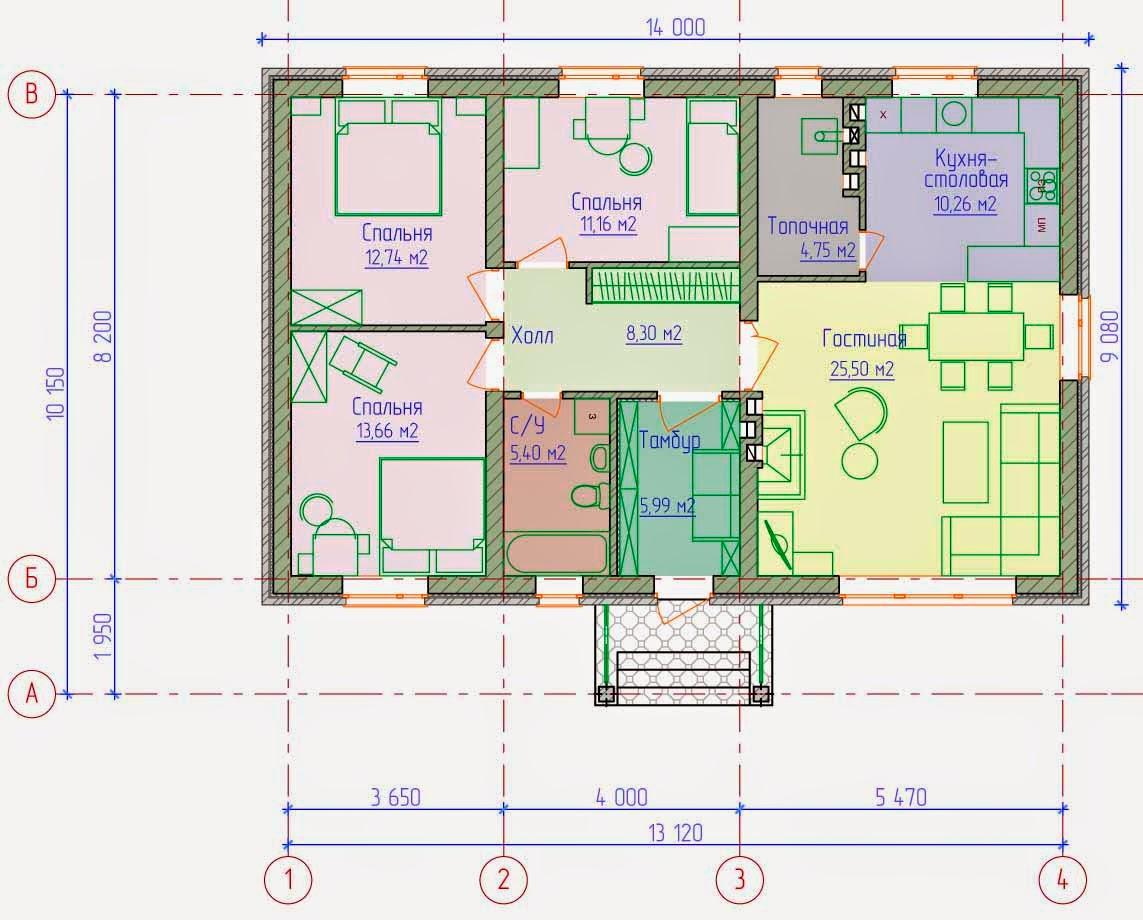 Готовые проекты домов коттеджи