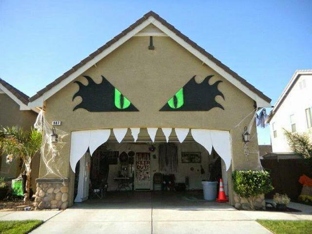 Garage Door Halloween Monster Decoration