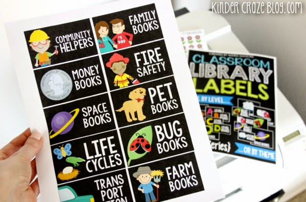 gorgeous labels for a classroom library