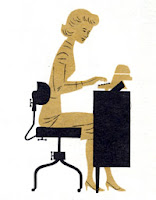 60s era typist