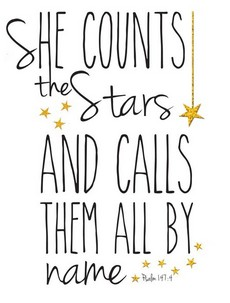 she counts stars