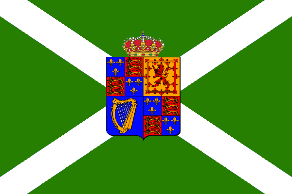 royal flag of jacobite Ireland