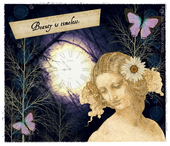 Timeless Beauty Digital Collage