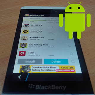Android di BlazkBerry 10